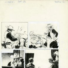 Cómics: DIBUJO ORIGINAL DE ARTURO DEL CASTILLO - LA BESTIA - VIEJOS RENCORES, CAPÍTULO 3 P.6, EDT. RECORD. Lote 211992266