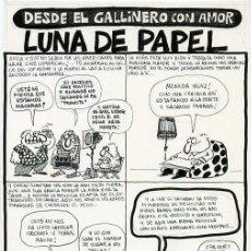 Cómics: DIBUJO ORIGINAL DE ÓSCAR NEBREDA - DESDE EL GALLINERO CON AMOR, LUNA DE PAPEL, REVISTA EL PAPUS N.23. Lote 212353812