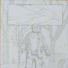 Cómics: DIBUJO ORIGINAL JASON (VIERNES 13) - MARCIO ABREU. Lote 212478988