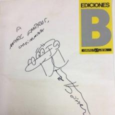 Cómics: DIBUJO ORIGINAL DE FRANCISCO IBAÑEZ - MORTADELO Y FILEMÓN. EDICIONES B. Lote 212740650