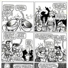Cómics: DIBUJO ORIGINAL DE MIGUEL GALLARDO - HISTORIAS DEL TIO EMO P.23, EDICIONES LA CÚPULA 1986. Lote 213695927