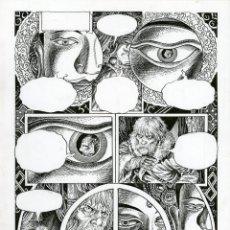 Cómics: DIBUJO ORIGINAL DE ENRIQUE ALCATENA - EL LIBRO SECRETO DE MARCO POLO P.7. Lote 213696310