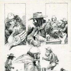 Cómics: DIBUJO ORIGINAL DE CARLOS ROUME - ANOCHECE P.2, EDITORIAL RECORD. Lote 213949628