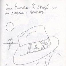 Fumetti: ART ORIGINAL DEL PINTOR EDUARDO URCULO TAMAÑO 21 X 28 CARICATURA DE FAUSTINO R. ARBESÚ LIBRO º. Lote 214021920