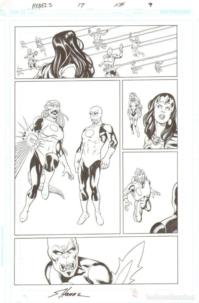 ORIGINAL R.E.B.E.L.S (GREEN CORPS / ADAM STRANGE) - SERGIO ARIÑO (Tebeos y Comics - Art Comic)