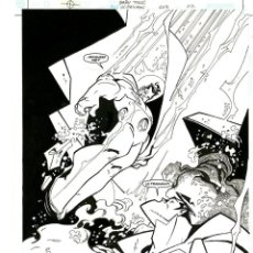 Cómics: DIBUJO ORIGINAL DE CARLOS MEGLIA - SUPERMAN BABY TALK P.22, EDITORIAL DC. Lote 214253747