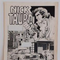 Cómics: PORTADA ORIGINAL DE NICK TAURO. VICENTE RAMOS. Lote 214979301