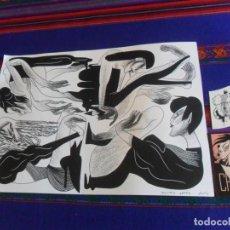 Cómics: DIBUJO ORIGINAL DE MIREIA PÉREZ TITULADO FRISO PRAESENS. AÑO 2016. 42,5X29,5 CMS. CON 2 REGALOS.. Lote 216758956
