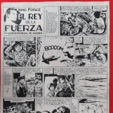 Cómics: DIBUJO ORIGINAL PLUMILLA KING FORCE EL REY DE LA FUERZA JOSE GRAU 2 HOJAS O PLANCHAS GRANDES M8. Lote 217015437