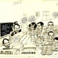 Cómics: DIBUJO ORIGINAL DE ADOLFO USERO - EL REPELENTE NIÑO GONZÁLEZ, EL PAPUS P.22 - 23. Lote 217204285