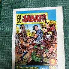 Cómics: EL JABATO. ALMANAQUE 1960. VER DESCRIPCIÓN.. Lote 217766550