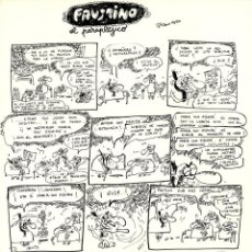 Cómics: DIBUJO ORIGINAL DE JORDI AMORÓS JA - FAUSTINO EL PARAPLEJICO, EL PAPUS N.462 P.23, 1982. Lote 218772641