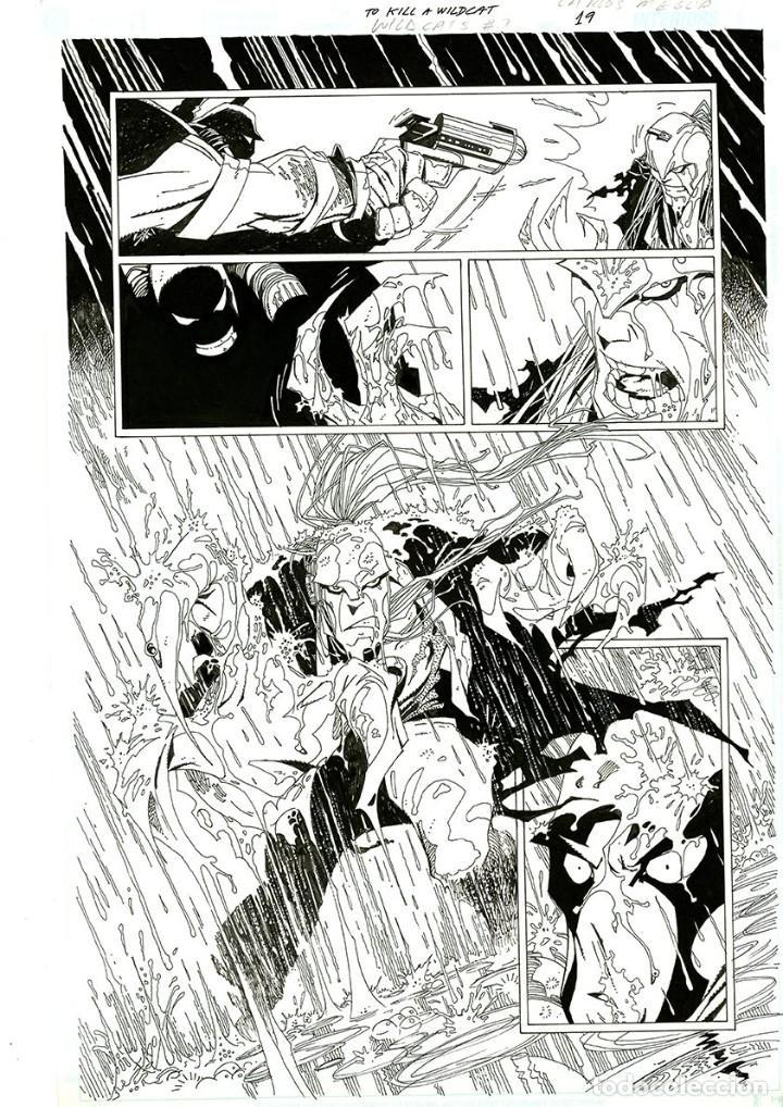 DIBUJO ORIGINAL DE CARLOS MEGLIA - TO KILL A WILDCATS P.19, EDITORIAL DC (Tebeos y Comics - Art Comic)