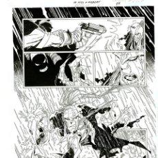 Cómics: DIBUJO ORIGINAL DE CARLOS MEGLIA - TO KILL A WILDCATS P.19, EDITORIAL DC. Lote 218773137