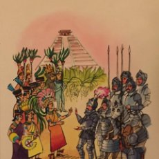 Cómics: HERNÁN CORTÉS, LA CONQUISTA DE MÉXICO. DIBUJO ORIGINAL, MONNERAT (SUIZA 1917- ESPAÑA 2005). Lote 219110658