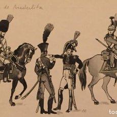 Cómics: LA BATALLA DE AUSTERLITZ. DIBUJO ORIGINAL, MONNERAT (SUIZA 1917- ESPAÑA 2005). Lote 219111955
