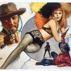 Cómics: PORTADA CUBIERTA COVER DIBUJO OLEO - MANUEL SANJULIAN - SANJULIAN - NOVELA OESTE WESTERN ED. BASTEI. Lote 219336631