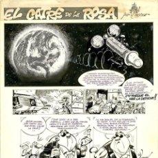 Cómics: DIBUJO ORIGINAL DE CASANYES - EL CATRE DE LA ROSA, EL PAPUS N.366 P.38, AÑO 1981. Lote 220251920