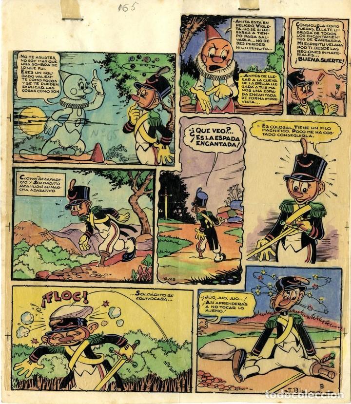 DIBUJO ORIGINAL DE JESÚS BLASCO - ANITA DIMINUTA, LA MALVADA BRUJA CARRASPIA P.20, MIS CHICAS N.65 (Tebeos y Comics - Art Comic)
