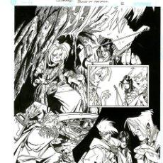 Cómics: DIBUJO ORIGINAL DE CARLOS MEGLIA - CRIMSON SPECIAL BLOOD ON THE MOON P.12, EDITORIAL DC. Lote 220494208