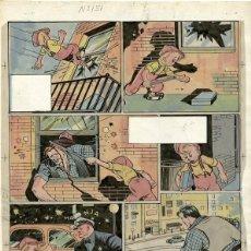 Cómics: DIBUJO ORIGINAL DE JESÚS BLASCO - CUTO EL PEQUEÑO POLICÍA P.9, REVISTA CHICOS N.151, AÑO 1941. Lote 220860786