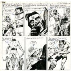 Cómics: DIBUJO ORIGINAL DE RICARDO VILLAGRAN - MARK - EL TONY SUPERCOLOR N.15 P.126, AÑO 1977. Lote 220862311