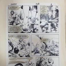 Cómics: DIBUJO ORIGINAL DE JOHN BUSCEMA CONAN EL BARBARO. Lote 220964397