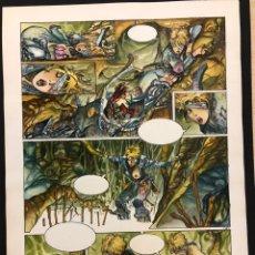 Comics : PÁGINA ORIGINAL AZPIRI. SUEÑOS HÚMEDOS. 28X39CM. Lote 221705165