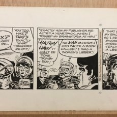 Cómics: TIRA ORIGINAL FRANK ROBBINS. JOHNNY HAZARD. DIBUJO 41X18 CM. 1972. Lote 221726268