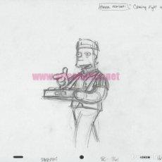 Fumetti: LOS SIMPSONS BOCETO ORIGINAL USADO EN LA SERIE: VENDEDOR CERVEZA DUFF. Lote 222139731