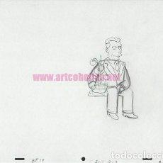 Fumetti: LOS SIMPSONS BOCETO ORIGINAL USADO EN LA SERIE: PERSONAJES SECUNDARIO 02. Lote 222194255