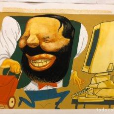 Fumetti: DIBUJO ILUSTRACIÓN ORIGINAL RAÚL. PUBLICADO EL PAÍS 1996. ÁREA DIBUJO 28X20CM. Lote 222278717