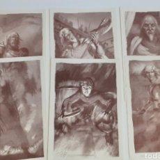 Comics: COROMINAS. LOTE DE 6 LÁMINAS JUEGO DE TRONOS. UNA FIRMADA. Lote 222315147