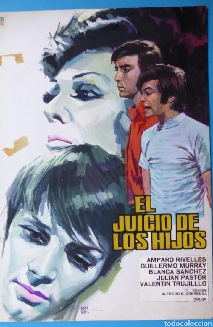 EL JUICIO DE LOS HIJOS. AMPARO RIVELLES. CARTEL ORIGINAL DE MONTALBAN (Tebeos y Comics - Art Comic)
