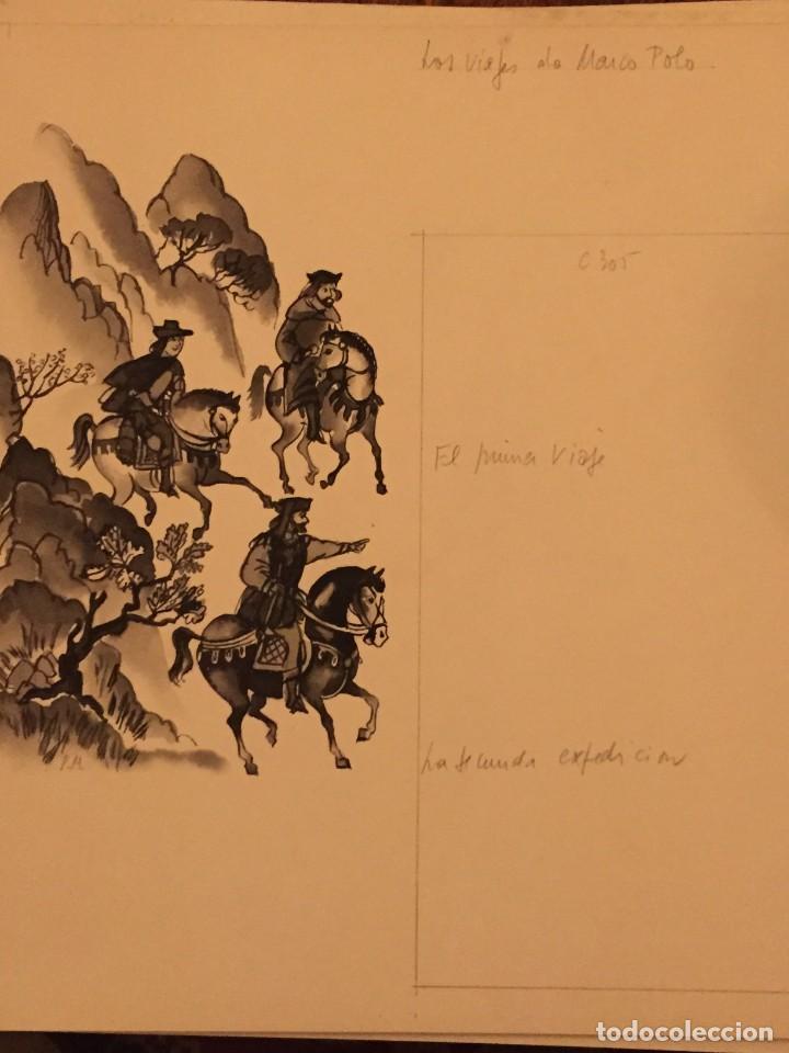 Cómics: Los viajes de Marco Polo por Pierre Monnerat (Suiza 1917- España 2005) - Foto 2 - 222438423