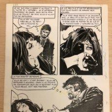 Fumetti: PÁGINA ORIGINAL JORDI BADIA ROMERO. DIBUJO 17,5X24CM. Lote 222593147