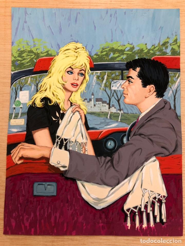 PORTADA ORIGINAL PARA BRUGUERA. CAMELIA Nº442. DIBUJO 18,5X24CM. (Tebeos y Comics - Art Comic)