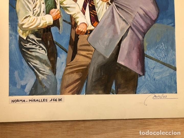 Cómics: Portada Original Miralles. 36,5x51cm. Dibujo Original. - Foto 5 - 222598373