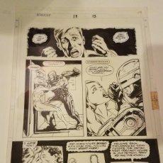 Cómics: ROBOCOP #19 PAGINA ORIGINAL 15 MARVEL 1991 POR LEE SULLIVAN Y HARRY CANDELARIO LAS TINTAS. Lote 222623472