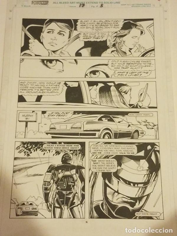 ROBOCOP #17 PAGE 5 MARVEL 1991 POR LEE SULLIVAN Y HARRY CANDELARIO LAS TINTAS (Tebeos y Comics - Art Comic)