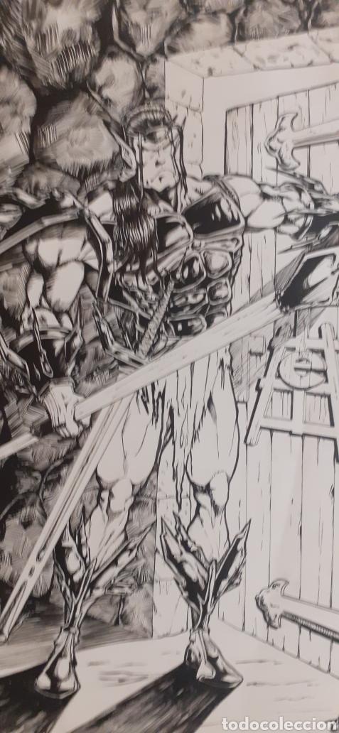 JAIME CALDERON. DIBUJO ORIGINAL A3. ESCOLA FEM ART (Tebeos y Comics - Art Comic)