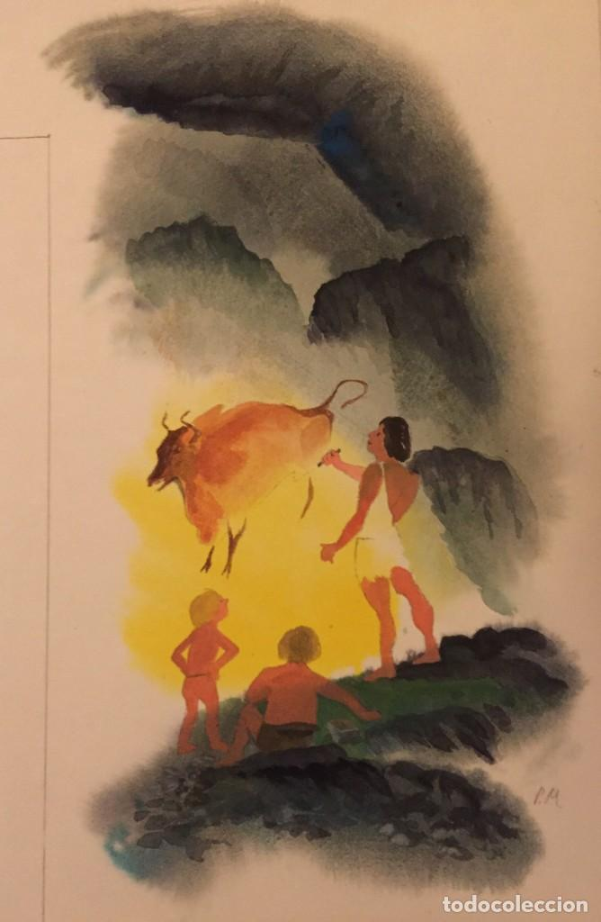 PINTURAS RUPESTRES: ALTAMIRA. OBRA ORIGINAL DE PIERRE MONNERAT (SUIZA 1917- ESPAÑA 2005) (Tebeos y Comics - Art Comic)