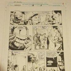 Cómics: ROBOCOP #18 PAGINA ORIGINAL 6 MARVEL 1991 POR LEE SULLIVAN Y HARRY CANDELARIO LAS TINTAS. Lote 222726081