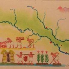 Cómics: MESOPOTAMIA. DIBUJO ORIGINAL, MONNERAT (SUIZA 1917- ESP 2005). Lote 223120323