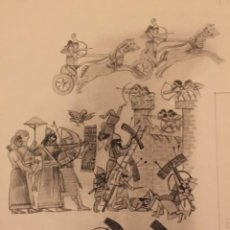 Cómics: GUERREROS ASIRIOS. DIBUJO ORIGINAL, MONNERAT (SUIZA 1917- ESP 2005). Lote 223125932