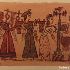 Cómics: LA MUJER EN CRETA. DIBUJO ORIGINAL, MONNERAT (SUIZA 1917- ESP 2005). Lote 223129501