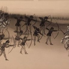 Cómics: LA BATALLA DE CRÉCY. DIBUJO ORIGINAL, MONNERAT (SUIZA 1917- ESP 2005). Lote 223131830