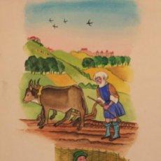 Cómics: AGRICULTURA EN SIGLO XIV Y XV, MONNERAT (SUIZA 1917- ESP 2005). Lote 223136456