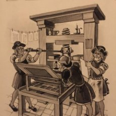 Cómics: GUTENBERG: LA IMPRENTA, MONNERAT (SUIZA 1917- ESP 2005). Lote 223225658