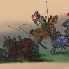 Cómics: LA BATALLA DE AZINCOURT, MONNERAT (SUIZA 1917- ESP 2005), DIBUJO ORIGINAL. Lote 223260266